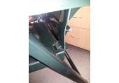 VÝPRODEJ ALLIBERT ARUBA zahradní židle polohovací, tmavě zelená 17180080, PRASKLÉ OPĚRADLO